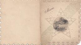 PRÄGEDRUCK Glückwunschkarte Um 1900 - Oblaten, Glanzbilder