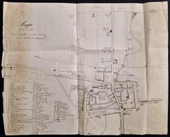 1862 Kápolnay István (?-?): Acqui Terme és Vidékének Saját Kézzel Rajzol Térképe, (Alessendriához Közel (Piedmont Régiób - Cartes