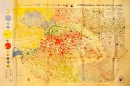 1942 Közép-Európa Nemzetiségi Térképe. Kidolgozta Dr. Jakabffy Imre. 1:1000.000. Bp., Államtudományi Intézet, M. Kir. Ho - Cartes