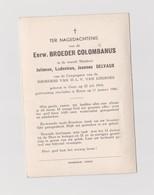 DOODSPRENTJE EERWAARDE BROEDER COLOMBANUS - JULIANUS DELVAUX GENT RONSE (FOTO) - Images Religieuses