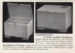 JUNGMÄDCHENTRUHE - Ein Stück Deutschen Brauchtums, Werbekarte D.Fa. Willy Knöbel, Borstendorf, Karte Um 1930? - Werbepostkarten