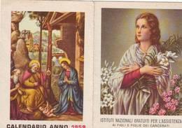 Calendarietto Tascabile Istituti Nazionale Per L'assistenza Figli Dei Carcerati 1959 - Calendarios