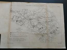 ANNALES PONTS Et CHAUSSEES (Dep 75) - Plan De L'Alimentation De Paris En Eau De Source - Graveur Macquer 1891 (CLA80) - Cartes Marines