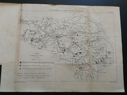 ANNALES PONTS Et CHAUSSEES (Dep 75) - Plan De L'Alimentation De Paris En Eau De Source - Graveur Macquer 1891 (CLA80) - Zeekaarten
