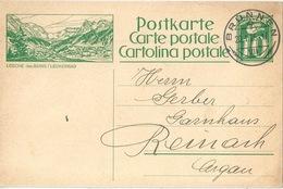 "PK 99  ""Loeche-les-Bains / Leukerbad""              1925 - Interi Postali"