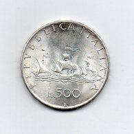 """ITALIA - 1966 - 500 Lire """"Caravelle"""" - Argento 835 - Peso 11 Grammi - (MW2189) - 1946-… : Repubblica"""