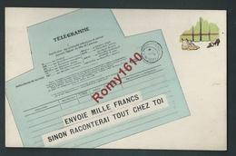 Carte Télégramme Humoristique. Chantage... Voir Détails. Scan Recto/verso. - Humour