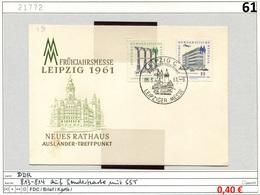 DDR - Germany EAST - Michel 813-814 Auf Prägedruckkarte Mit SSt - Frühjahrsmesse Leipzig 1961 - [6] Oost-Duitsland