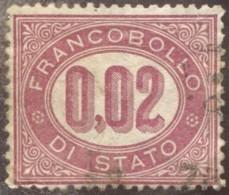 1875 Timbre Service  Francobollo Di Stato (0,02) - Dienstpost