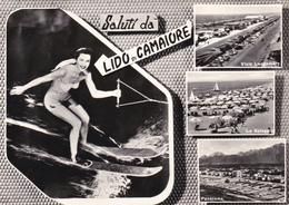LUCCA - Saluti Da Lido Di Camaiore - 4 Vedute - Pin Up Che Fa Sci Acquatico - 1962 - Lucca