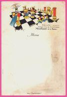 Menu Echec Au Roi ! .... Mais Jamais Au Grand Vin De Champagne MORLANT - Une Chartreuse ! - Chess - OFBAR PANTIN - Menú
