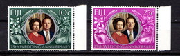 FIJI    1972    Royal  Silver  Wedding    Set  Of  2    MNH - Fiji (1970-...)