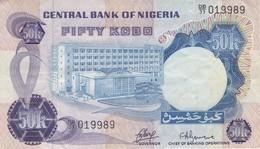 BILLETE DE NIGERIA DE 50 KOBO DEL AÑO 1973  (BANKNOTE) - Nigeria