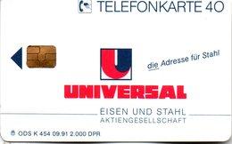 """(Gm3) BRD Telefonkarte 1991 (40) Ungebraucht """"UNIVERSAL Eisen Und Stahl Aktiengesellschaft"""" - Deutschland"""