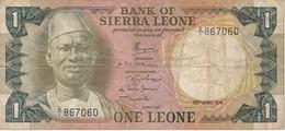 BILLETE DE SIERRA LEONA DE 1 LEONE DEL AÑO 1974    (BANKNOTE) - Sierra Leone