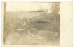 Cpa Carte-photo Soldats - Blockhaus Près La Porcherie - Guerre 1914-18