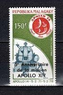 MADAGASCAR PA  N° 166   NEUF SANS CHARNIERE COTE 2.00€   ESPACE APOLLO XIV - Madagascar (1960-...)