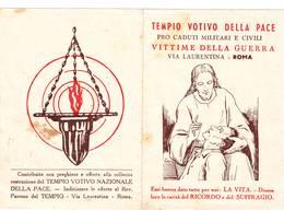 Calendarietto Tascabile Tempio Votivo Della Pace 1949 - Calendarios