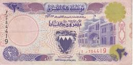 BILLETE DE BAHRAIN DE 20 DINARS DEL AÑO 1973  (BANKNOTE) - Bahrein