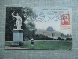 CPA BELGIQUE TERVUREN PELOUSE ET MUSEE COLONIAL STATUE - Tervuren
