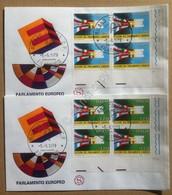 FDC Filagrano Italia 1979 - Quartine AF Elezioni Parlamento Europeo - 2 NVG - Francobolli