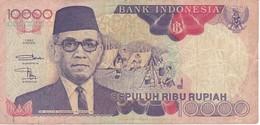 BILLETE DE INDONESIA DE 10000 RUPIAH DEL AÑO 1992  (BANKNOTE) - Indonésie