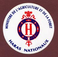 HARAS NATIONAUX : MINISTERE DE L'AGRICULTURE - Autocollants