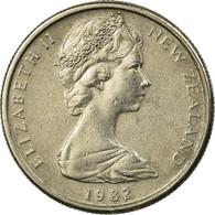 Monnaie, Nouvelle-Zélande, Elizabeth II, 5 Cents, 1982, TTB, Copper-nickel - Nouvelle-Zélande