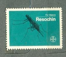 EGYPT - LABEL  -  Malaria - SEE SCAN - Ägypten