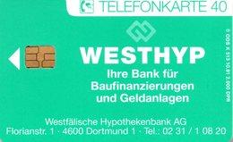 """(Gm-3) BRD Telefonkarte 1991 (40) Ungebraucht """"WESTHYP - Westfälische Hypothekenbank AG - Deutschland"""