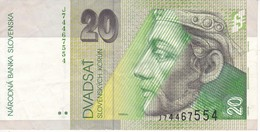 BILLETE DE ESLOVAQUIA DE 20 KORUN DEL AÑO 2001 (BANK NOTE) - Slowakei