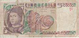 BILLETE DE ITALIA DE 5000 LIRAS DEL AÑO 1980  CIONINI  (BANKNOTE) - [ 2] 1946-… : República