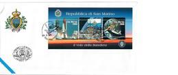 SAN MARINO 1998 - LA BANDIERA NELLO SPAZIO -SPACE  SHUTTLE. - FDC - San Marino
