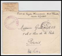 52310 Loire Inferieure St Nazaire Navire Hopital Flandre 1917 Naval Sante Guerre 1914/1918 War Devant De Lettre Front - Postmark Collection (Covers)