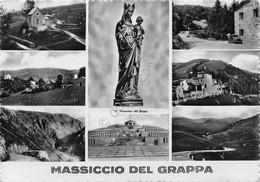 Cartolina Massiccio Del Grappa 8 Vedute 1956 - Treviso
