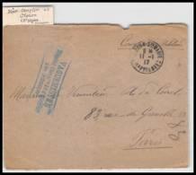 52368 Pyrenees Atlantiques Oloron 1917 Hopital Complementaire 40 Sante Guerre 1914/1918 War Devant De Lettre Front - Postmark Collection (Covers)