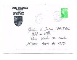 LETTRE DE MAIRIE DE LARODDE PUY DE DOME - Postmark Collection (Covers)