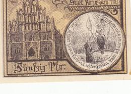 Billet Allemand - 50 Pfennig - Konigsberg - [11] Lokale Uitgaven