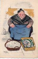 93Maj   Illustrateur Edouard Collin La Marchande De Poissons Poissonniere - Illustratori & Fotografie