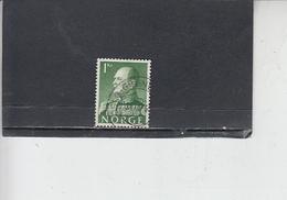 NORVEGIA  1959 - Unificato  386 - Olav V - Norvegia