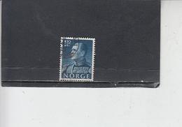NORVEGIA  1959 - Unificato  387 - Olav V - Norvegia