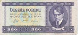 BILLETE DE HUNGRIA DE 500 FORINT DEL AÑO 1990  (BANKNOTE) - Ungheria