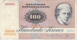 BILLETE DE DINAMARCA DE 100 KRONER DEL AÑO 1972  (BANKNOTE) - Denmark