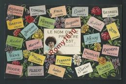 Le Langage Des Prénoms.  Le Nom Que Je Préfère Est Marcel (Peut être Gommé)...Carte Gaufrée. 2 Scans. - Prénoms