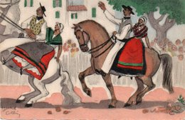 93Maj   Illustrateur Edouard Collin La Cavalcade Provençale - Illustratori & Fotografie