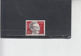 NORVEGIA  1962 - Unificato 423 - Bjerknes - Geofisica - Norvegia