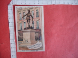 Chromo Biscuits Pernot Statue Sergent Bobillot Rue Richard Lenoir - Pernot