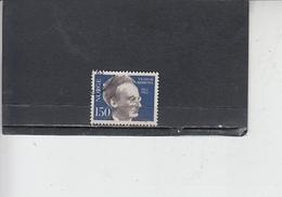 NORVEGIA  1962 - Unificato 424 - Bjerknes - Geofisica - Norvegia