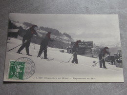 CPA Champéry .. Skieurs - VS Valais