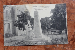 DIGNE (04) - ECOLE MATERNELLE - MONUMENT AUX INSTITUTEURS MORTS POUR LA PATRIE - Digne